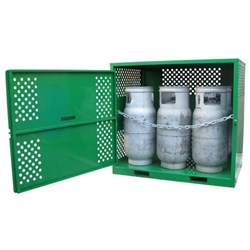 Storemasta Forklift 6 Bottle Gas Bottle Storage Cage GF06