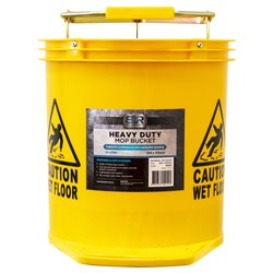 Blue Rapta Heavy Duty Mop Bucket Poly Roller 16L Yellow TCL302