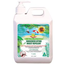 Ultra Protect® SPF30+ Sunscreen w/ Insect Repellent Lotion 1L Pump UP3IR1LP