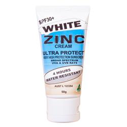 Ultra Protect® SPF30+ 50g White Zinc Tube UPZC50W