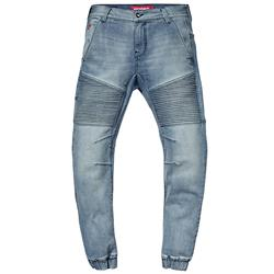 SAINT WORKS Washed Indigo Stretch Flight Jean