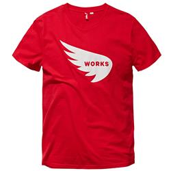Saint Works Wing Logo Red Tee