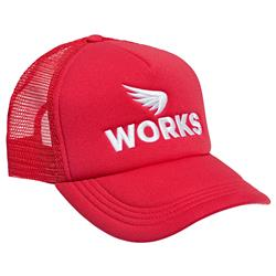 SAINT WORKS Logo Red Trucker Cap