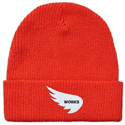 SAINT WORKS Wing Logo Red Beanie