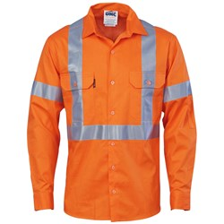 DNC Workwear Light Weight X Back Shirt with CSR Reflective Tape