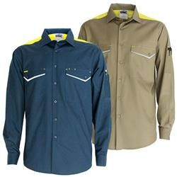 DNC Workwear Ripstop Cool Cotton Tradies L/S Shirt 3582