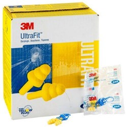 3M™ E-A-R™ UltraFit™ 340-4004 18dB CL3 Corded Earplugs (Bx 100pr)