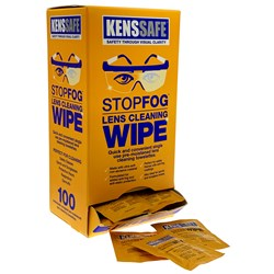 KENSSAFE™ STOPFOG™ Lens Cleaning Wipes (Bx 100) KENSF100