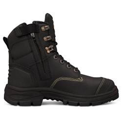 Oliver 150mm Black Zip Sided Safety Boots 55-345Z