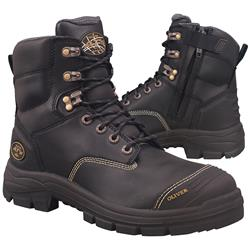 Oliver AT 55 150mm Black Zip Sided Safety Boots 55-345Z