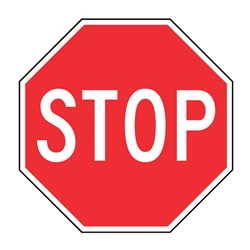 Stop 600mm Octagonal Metal Traffic Sign R1-1A-1X