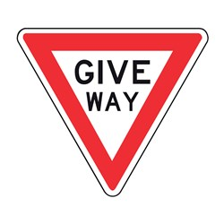 Give Way 750mm Triangle Metal Traffic Sign R1-2A