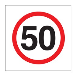 Speed 50km 600x600mm Multi-Message Sign CT284-50kh