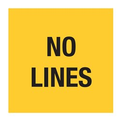 No Lines 600x600mm Multi-Message Sign T9-51