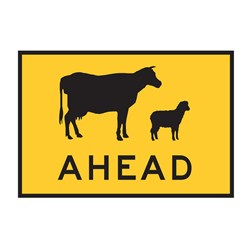 Cattle & Sheep Ahead 900x600mm Boxed Edge Sign T1-19A