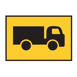Symbolic Truck 900x600mm Boxed Edge Sign T2-25A