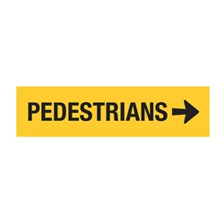 Pedestrians Right Arrow 1200x300mm Multi-Message Sign CT284-T8-2R38