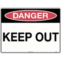Danger Keep Out Poly Sign 300x225mm