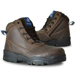 Bata Industrials Horizon Brown Z/Sided Safety Boots