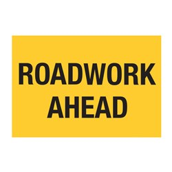 Roadwork Ahead 900x600mm Flat Plate Sign SG500-ALUM