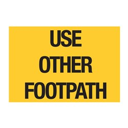Use Other Footpath 900x600mm Flat Plate Sign SG504-ALUM