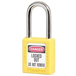 Master Lock® Yellow Zenex™ Thermoplastic Safety Padlock 410YLW