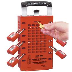 Master Lock® Latch Tight™ Red Group Lock Box 503RED