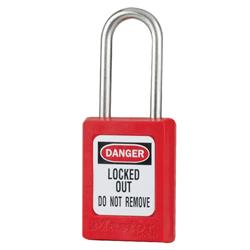 Master Lock® Red Compact Zenex™ Thermoplastic Safety Padlock w/ Cover S31RED