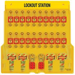 Master Lock® 20-Lock Padlock Station 1484BP410