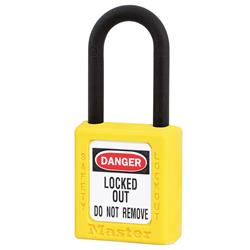 Master Lock® Yellow Dielectric Zenex™ Thermoplastic Safety Padlock 406YLW