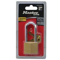 Master Lock® 40mm Diamond Hex Brass Padlock 140DLHHEXAU