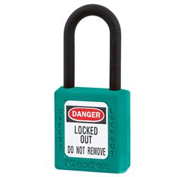 Master Lock® Teal Dielectric Zenex™ Thermoplastic Safety Padlock 406TEAL