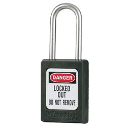 Master Lock® Black Compact Zenex™ Thermoplastic Safety Padlock w/ Cover S31BLK