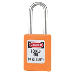 Master Lock® Orange Compact Zenex™ Thermoplastic Safety Padlock w/ Cover S31ONJ