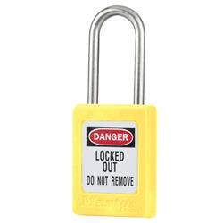 Master Lock® Yellow Compact Zenex™ Thermoplastic Safety Padlock w/ Cover S31YLW