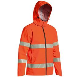 Bisley Safetywear Hi-Vis H Taped Lightweight Mini Ripstop Rain Jacket