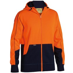 Bisley Safetywear Two Toned Hi-Vis Fleece Hoodie