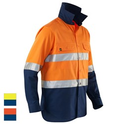 ELEVEN Workwear Evolution Hi-Vis L/S Drill Shirt w/ 3M™ Tape
