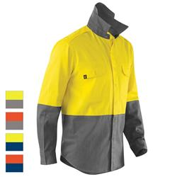 ELEVEN Workwear AeroCOOL Spliced Hi-Vis Feather Drill Shirt