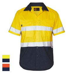 ELEVEN Workwear AEROCOOL Hi-Vis Spliced Taped Shirt