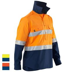 ELEVEN Workwear AeroCOOL Spliced Hi-Vis 3M™ Taped Closed Front Shirt
