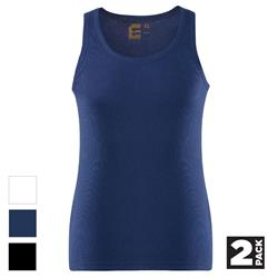 ELEVEN Workwear Essential Work Singlet (Pk 2)