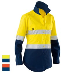 ELEVEN Workwear Women's AeroCOOL Spliced Hi-Vis Perforated 3M™ Taped Shirt