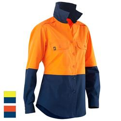 ELEVEN Workwear Women's AeroCOOL Spliced Hi-Vis L/S Shirt
