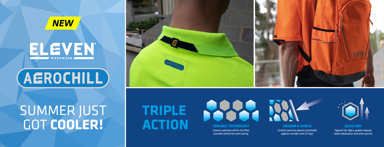 ELEVEN Workwear AEROCHILL at RSEA Safety Online - The Safety Experts