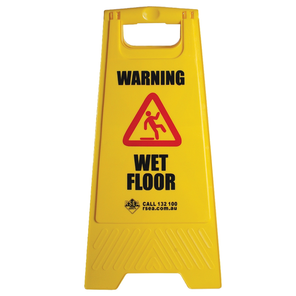 p wet sign stand caution warning floor