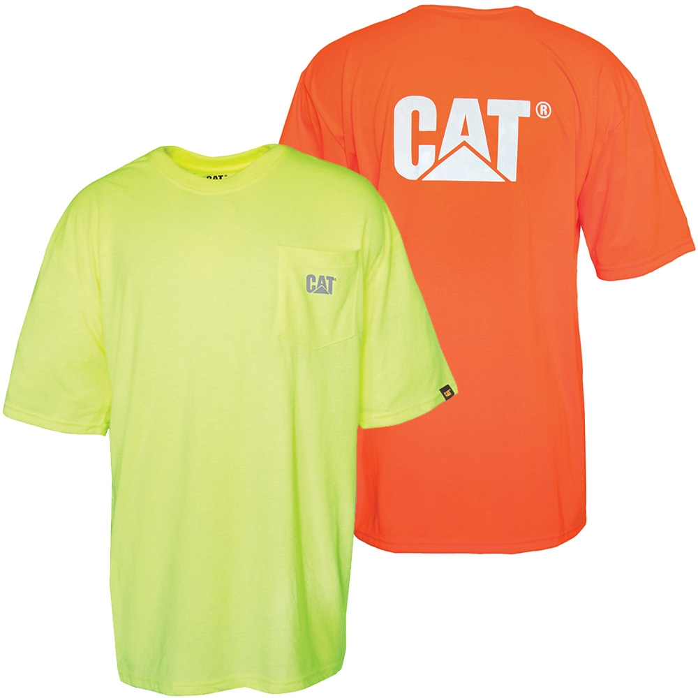 Cat Workwear Hi Vis Pocket Tee
