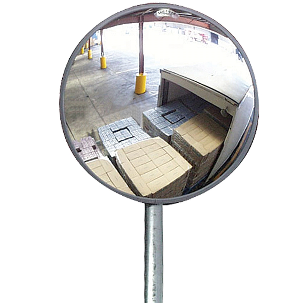 Economy outdoor convex mirror 30cm with wall bracket for Convex mirror