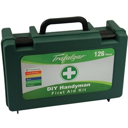 Trafalgar First Aid Handyman Green Hard Case First Aid Kit