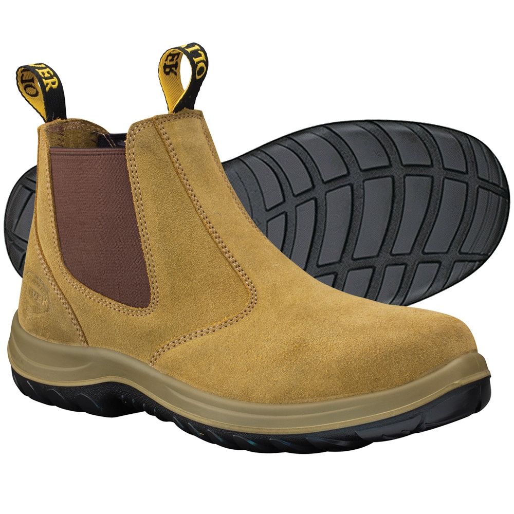 4e896018550 Oliver Beige Elastic Sided Safety Boots 34-624